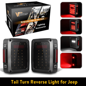 Jeep LED Tail Lights Assembly Brake Turn Stop Reverse DRL Light Lamp