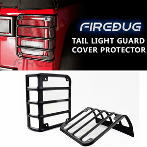 Matte Black Jeep Wrangler JK Tail Light Guards Rear Light Covers By Firebug On Amazon