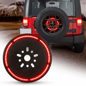 Jeep Spare Tire Brake Light Red LED Wheel Light For 2007-2017 Jeep Wrangler JK JKU Models On Amazon
