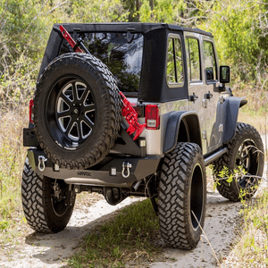 Havoc Offroad Aftershock Jeep Wrangler JK Rear Bumper With Tire Carrier On Amazon