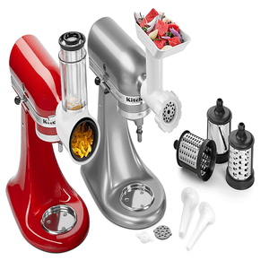 KitchenAid Attachment Set Sausage Stuffer, Shredder, Food Grinder. KSMGSSA