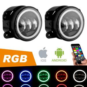 4-Inch CREE LED Jeep Fog Lights With RGB Halo For Jeep Wrangler JK JKU TJ LJ Unlimited On Amazon