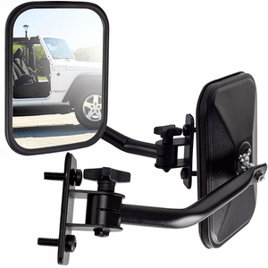 Jeep Wrangler Quick Release Jeep Mirrors With Adjustable Arms For Jeep JK Models On Amazon