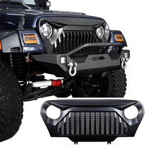 Hooke Road 1997-2006 Jeep TJ LJ Front Gladiator Grille Cover Vader Grill w/Mesh Inserts (Matte Black) On Amazon