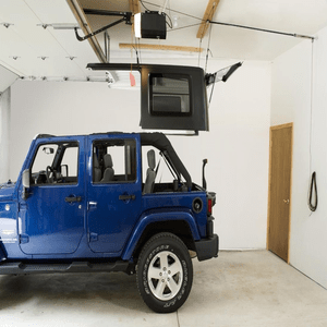 Jeep Hardtop Hoist Garage Storage System Single-Person Design On Amazon