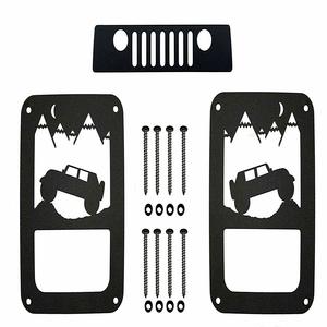 Jeep Wrangler JK Aluminum Tail Light Guards Includes Third Brake Light Cover On Amazon