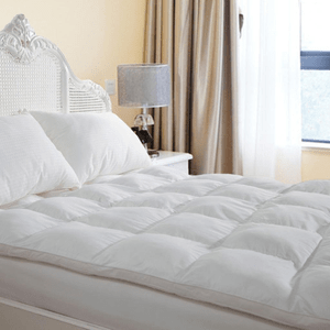 Plush Durable Premium Hotel Quality Mattress Topper By Duck & Goose Co