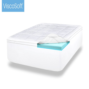 ViscoSoft 4 Inch Luxury Dual Layer Gel Infused Memory Foam Mattress Topper