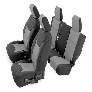 Custom Fit Jeep Wrangler Unlimited 4dr JK Neoprene Front & Rear Seat Covers By CarsCover On Amazon