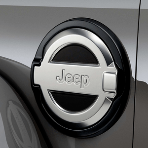 Jeep Wrangler JL Fuel Filler Door Mopar Cast Aluminum OEM 2018-2021 With Jeep Logo On Amazon