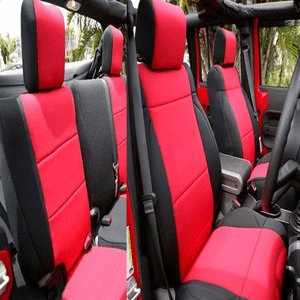 Jeep Wrangler JK Neoprene Seat Covers Custom fit 2007-2017 Unlimited 4 Door Front And Rear Seats On Amazon