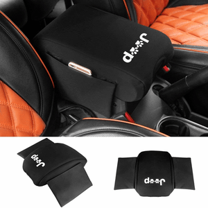 2011-2017 Jeep Wrangler JK Neoprene Center Console Armrest Pad Cover With Storage Bag On Amazon