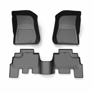 Jeep Wrangler JK 4-Door Floor Mats 3pc JKU Textured Black 2007-2018 On Amazon