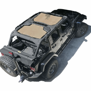 Alien Sunshade Jeep Wrangler 2-Piece Mesh Bikini Top Cover For 4-Door JKU 2007-2018 On Amazon