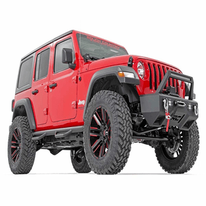 2018-2021 Jeep Wrangler JL 4-Door Side Steps Nerf Bar Rock Sliders By Rough Country On Amazon