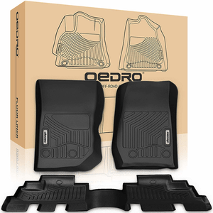 2007-2018 Jeep Wrangler JK Unlimited 4 Door All-Weather Floor Mats Liners On Amazon