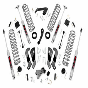 3.5-Inch Jeep Wrangler JK 4DR Lift Kit Fits 2007-2018 Suspension System By Rough Country On Amazon