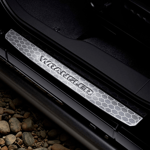 2018-2020 Mopar Stainless Steel Door Sill Guards For Jeep Wrangler JL 2-Door Models On Amazon