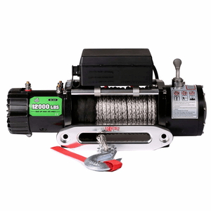 OFFROAD BOAR 12000 lb. Jeep Winch With Waterproof Synthetic Rope And 1-Year Warranty On Amazon
