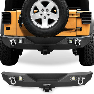 Jeep Rear Bumper Combo Compatible For 07-18 Jeep Wrangler JK & Unlimited With 2-Inch Hitch On Amazon