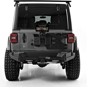 Smittybilt Heavy Duty 7743 HD Pivot Jeep Tire Carrier For 2018-2021 Jeep Wrangler JL Models Adjustable In Black On Amazon