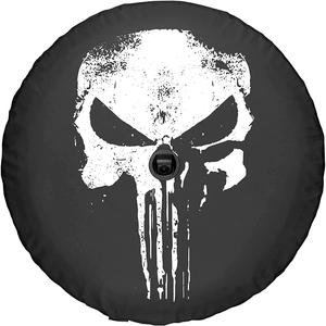 Punisher Skull Spare Jeep Wrangler Tire Cover Vinyl Black In Multiple Sizes On Amazon