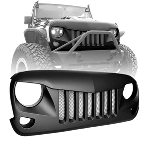 Jeep Wrangler JK Grille Gladiator Matte Black Eagle Eyes JK JKU & Unlimited Rubicon SaharaSports On Amazon