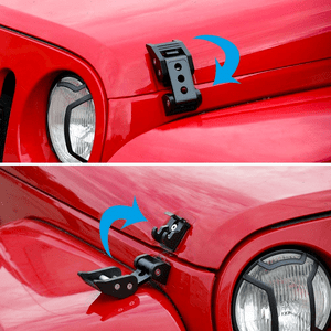 Black Stainless Steel Jeep Hood Latch Locking Kit 2007-2018 Jeep Wrangler JK On Amazon