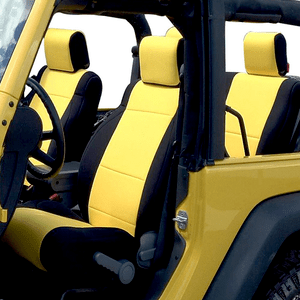 Jeep Wrangler JK Seat Covers Full Set Custom Fits 2007-2017 Unlimited 4-Door with Side Airbag On Amazon
