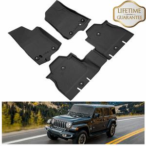 Jeep Wrangler JL Floor Mats 2018-2021 4-Door OEM Floor Liners TPE All Weather On Amazon