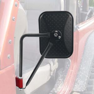 Quick Release Square Doors Off Jeep Mirror For 2007-2021 Jeep Wrangler JK JKU JL JLU Models On Amazon