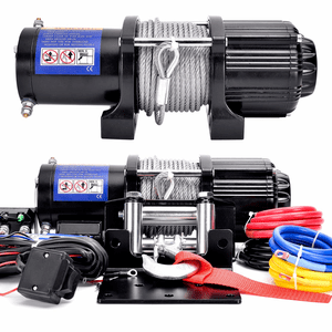 DCFlat 12V 4500 lb. Electric Winch With Wireless Remote Control