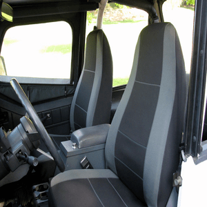 Jeep Wrangler YJ Neoprene Custom Fit Seat Covers Complete Front And Rear 1987-1996 On Amazon