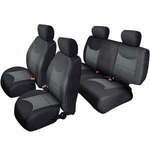 Jeep Wrangler Unlimited JK Custom Fit Seat Covers for 2013-2018 Front And Rear 4WD/2WD Set On Amazon
