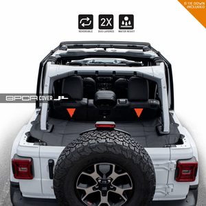 2018-2020 Jeep Wrangler JL Cargo Cover For Jeep JL 4-Door Models Reversible By GPCA On Amazon