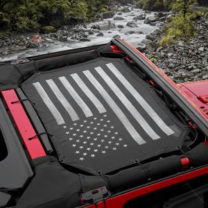 Durable US Flag Jeep Sunshade Mesh Top For 2007-2017 Jeep Wrangler JK JKU On Amazon