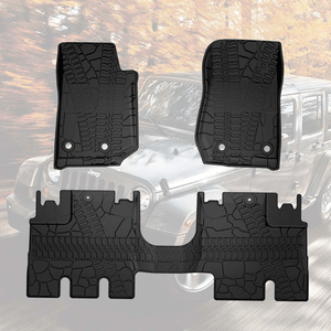 2014-2018 Jeep Wrangler JK 4-Door Unlimited Floor Liners Mats All Weather On Amazon