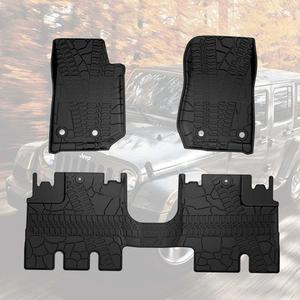 2014-2018 Jeep Wrangler JK 4-Door Unlimited Floor Liners Mats All Weather On Amazon