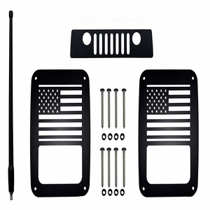 Jeep Wrangler Aluminum Tail Light Guards Includes Third Brake Light Cover On Amazon