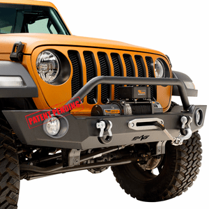 Jeep Wrangler JL Front Winch Bumper With Fog Light Housing Full Width For 2018-2019 Jeep Models On Amazon