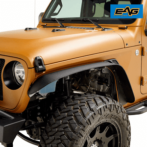 Jeep Wrangler JL Steel Front And Rear Fender Flare Kit For 2018-2019 Jeeps By EAG On Amazon