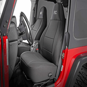 Rough Country Black Neoprene Seat Covers For 1997-2002 Jeep Wrangler TJ Models On Amazon
