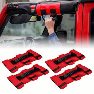 Jeep Wrangler JK & JK Unlimited Grab Handle Roll Bar Front Rear Grab Bar Grip Handle Bar Pair On Amazon