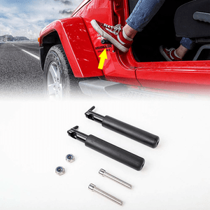 Jeep Foot Rest Pegs For 2007-2021 Jeep Wrangler JL JK JKU Solid Steel Foot Pedal Rests On Amazon