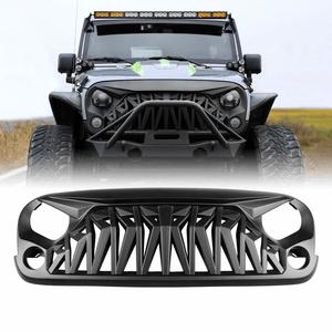 Jeep Matte Black Shark Grille Front Cover For Jeep Wrangler JK JKU Models By ICARS On Amazon
