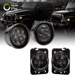 Side Marker And Turn Signal LED Light Kit With Smoked Lens For 2007-2018 Jeep Wrangler On Amazon