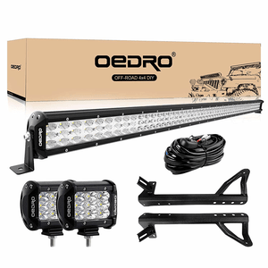 Jeep Wrangler JK 52-Inch 758W LED Straight Light Bar Kit With Brackets On Amazon