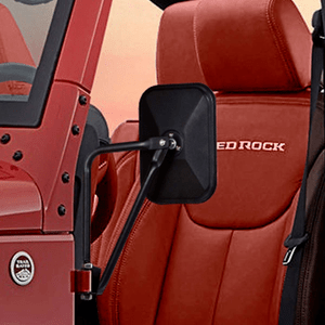 Rectangular Jeep Door Hinge Mirrors For Jeep Wrangler JK And JL All Models On Amazon
