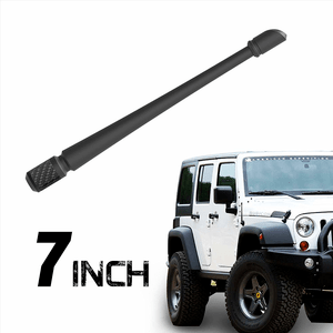 Flexible 7-Inch Jeep Wrangler Replacement Antenna JK JL (2007-2019)