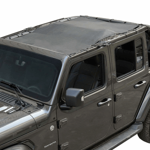 Black Sunshade For Jeep JL Shade Mesh Top for 2018 Jeep Wrangler 4-Door JL JLU Unlimited On Amazon